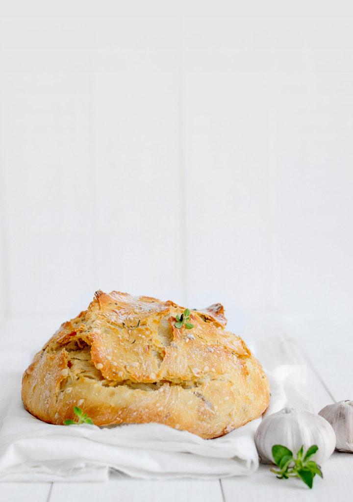 לחם שום ללא לישה