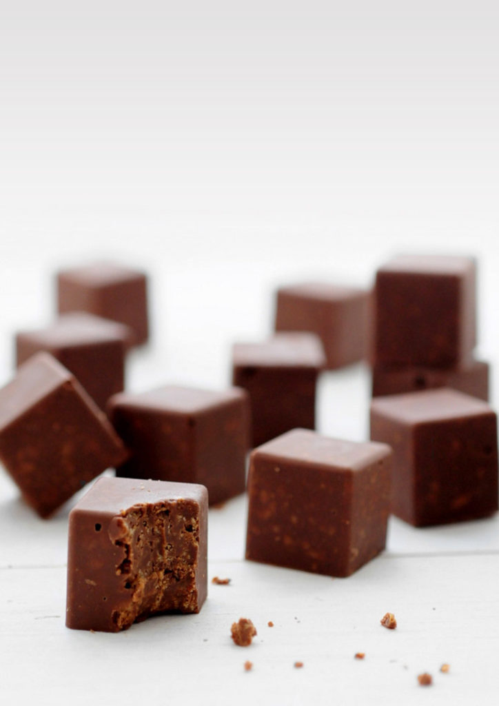 קוביות שוקולד נוגט
