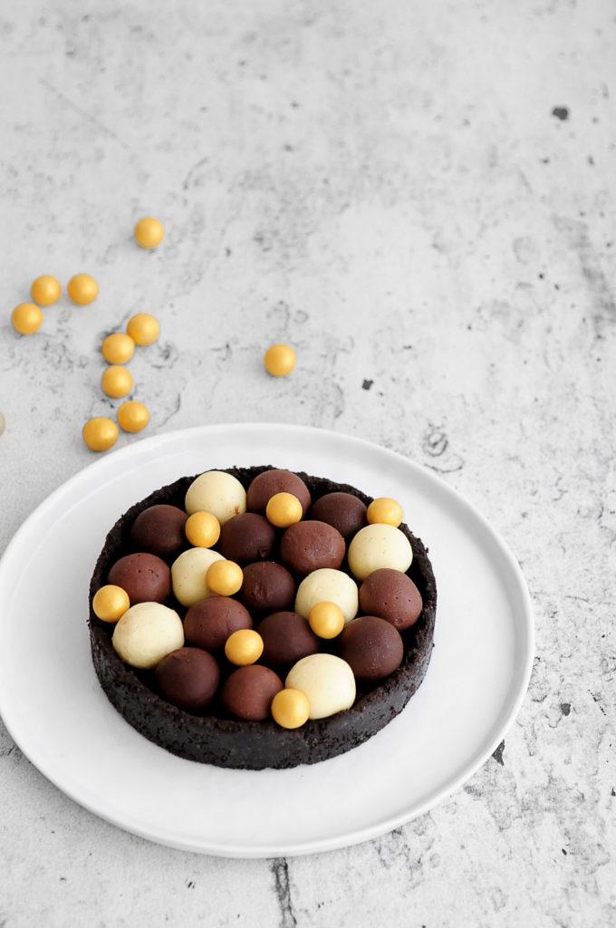 טארט טראפלס 3 שוקולדים