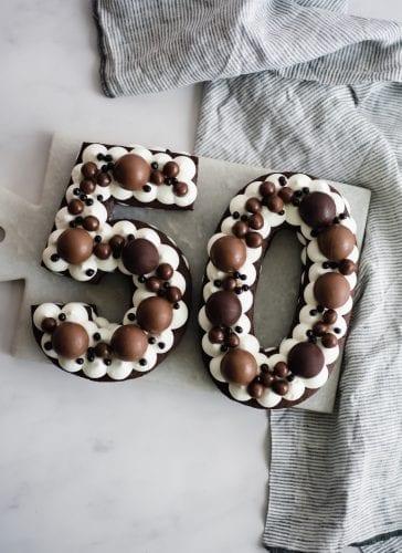 עוגת מספרים שוקולד