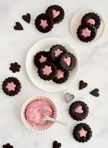 עוגיות סנדוויץ' שוקולד
