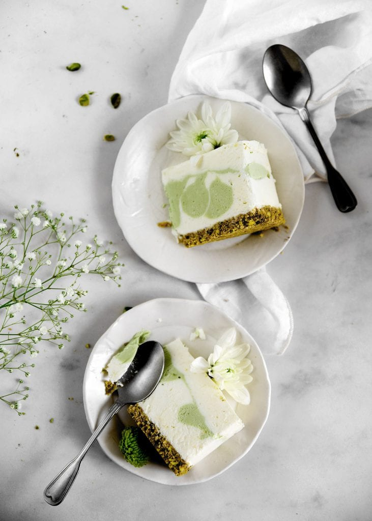 עוגת גבינה ופיסטוק