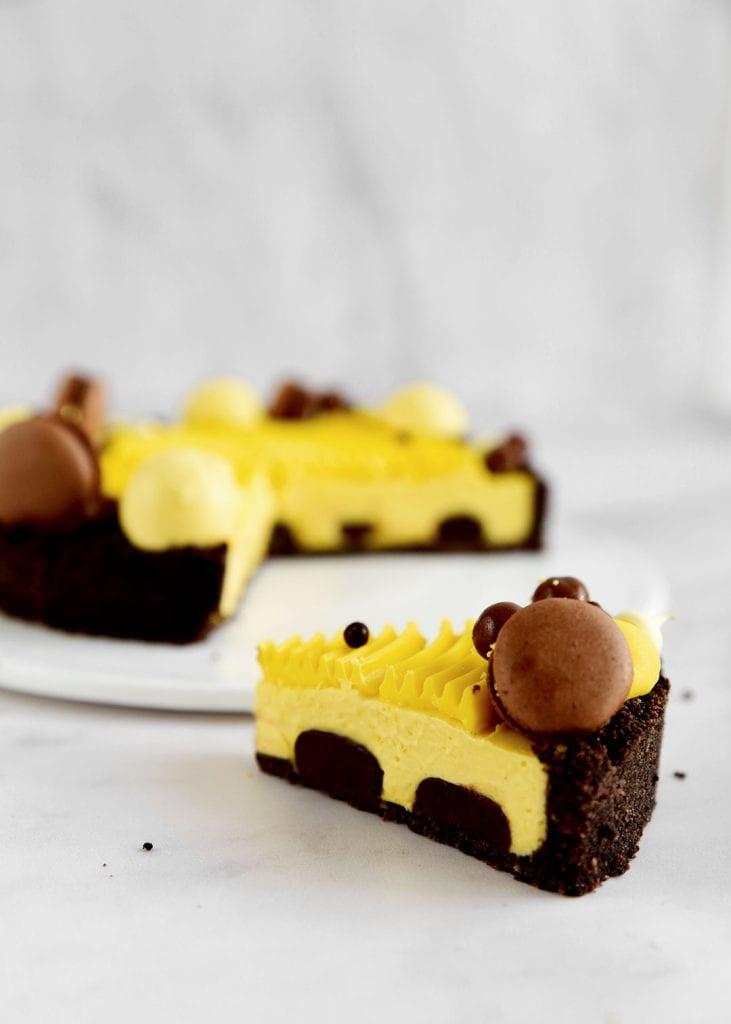 טארט שוקולד מנגו ללא אפיה