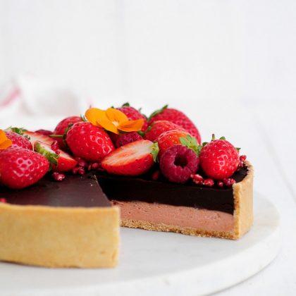 טארט שוקולד תות
