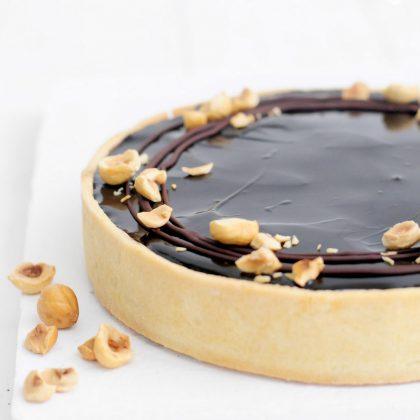 טארט שוקולד קרמל ואגוזי לוז