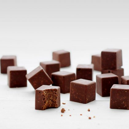 קוביות פייטה פוייטין ושוקולד