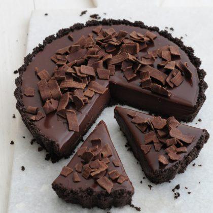 טארט שוקולד ללא אפיה