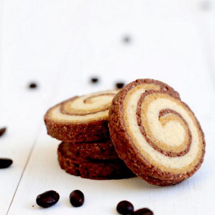 עוגיות ספירלה שוקו קפה ווניל